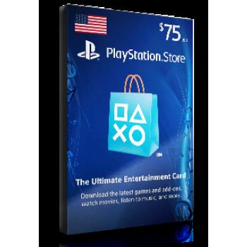 PlayStation Card $75 USA