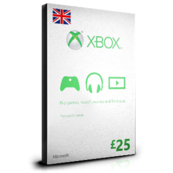 xBox Card £25 UK
