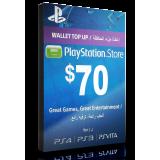PlayStation Card $70 KSA